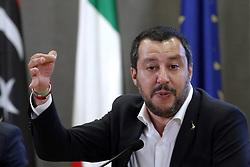 Italy, Rome - July 5, 2018.The Italian Minister of Interior Affairs Matteo Salvini, meets Ahmed Maitig, Libyan Deputy Premier (Credit Image: © Zucchi/Insidefoto/Ropi via ZUMA Press)