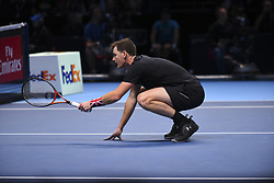 November 13, 2017 - London, United Kingdom - Jamie Murray of Great Britain in action during day two of the Nitto ATP World Tour Finals at O2 Arena, London on November 13, 2017. (Credit Image: © Alberto Pezzali/NurPhoto via ZUMA Press)