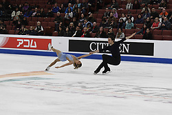 February 8, 2019 - Anaheim, California, U.S - Kirsten Moore-Towers and Michael Marinaro from Canada competes in the Pairs Short Program during the ISU - Four Continents Figure Skating Championships, at the Honda Center in Anaheim California, February 5-10, 2019 (Credit Image: © Dave Safley/ZUMA Wire)
