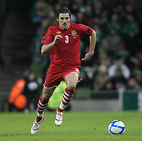 Football - Carling Nations Cup - Republic of Ireland vs. Wales<br />  <br /> Sam Ricketts of Wales in action during the Republic of Ireland vs. Wales Carling Nations Cup at The Aviva Stadium