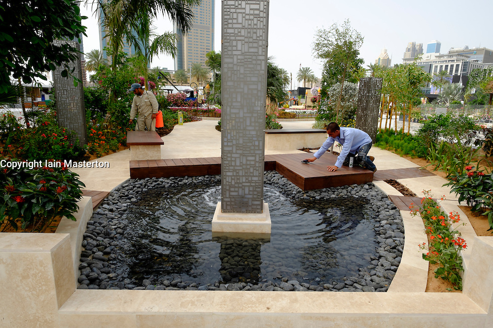 Dubai, 3rd April; The opening day of the first Dubai International Garden Competion. This the Walk in and Stay Awhile garden.