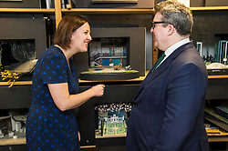 Pictured: Kezia Dugdale and Tom Watson<br /> Scottish Labour leader Kezia Dugdale, MSP,  and Tom Watson, MP deputy leader of the Labour Party, visited Edinburgh's Royal Lyceum Theatre today.<br /> <br /> Ger Harley | EEm 27 March 2017