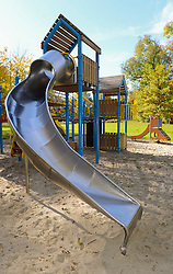 View of slide in playground