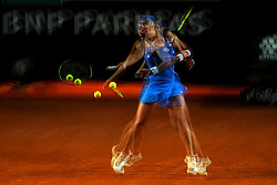 May 17, 2018 - Rome, Rome, Italy - 17th May 2018, Foro Italico, Rome, Italy; Italian Open Tennis; Anastasija Sevastova (LAT) in action during a match against Caroline Wozniacki (DEN) (picture taken with multiple exposure)  Credit: Giampiero Sposito/Pacific Press  (Credit Image: © Giampiero Sposito/Pacific Press via ZUMA Wire)