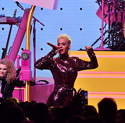 Katie Perry performs at Byron Allen Oscar Party at Beverly Wilshire Hotel. 11 Mar 2018 Pictured: Katie Perry. Photo credit: BLAK-OPS / MEGA TheMegaAgency.com +1 888 505 6342