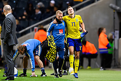 November 20, 2018 - Stockholm, Sweden - 181120 Viktor Claesson of Sweden leaves the pitch with a injury during the Nations League football match between Sweden and Russia on November 20, 2018 in Stockholm..Photo: Petter Arvidson / BILDBYRÃ…N / kod PA / 87811 (Credit Image: © Petter Arvidson/Bildbyran via ZUMA Press)