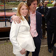 Presentatie Unicef CD Amsterdam, Barbara Boomsma en man Roeland Jacobs