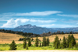Pinnacle Butte from Union Pass, west of Dubois Wyoming.