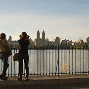 Women Taking Photos at the Reservoir in Central Park