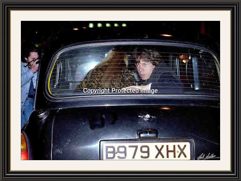 MICK JAGGER TAXI Jermyn St Mayfair London 93 Large A2  Museum-quality Archival signed Framed Print