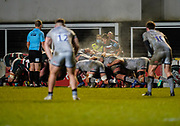 Leicester Tigers scrum-half Richard Wigglesworth prepared to feed the scrum during a Gallagher Premiership Round 7 Rugby Union match, Friday, Jan. 29, 2021, in Leicester, United Kingdom. (Steve Flynn/Image of Sport)