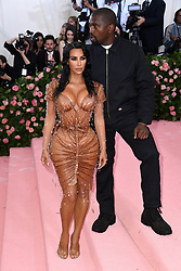 "Kim Kardashian West and Kanye West at the 2019 Costume Institute Benefit Gala celebrating the opening of ""Camp: Notes on Fashion"".<br />