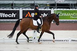 Katja Karjalainen, (FIN), Woikoski Double U - Team Competition Grade Ib Para Dressage - Alltech FEI World Equestrian Games™ 2014 - Normandy, France.<br /> © Hippo Foto Team - Jon Stroud <br /> 25/06/14