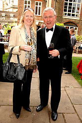 RICHARD SHEPHERD and SUE BLAKEY at the Lady Taverners Westminster Abbey Garden Party, The College Garden, Westminster Abbey, London SW1 on 10th July 2007.<br />