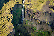Aearial photography over Iceland. Abstract formations.