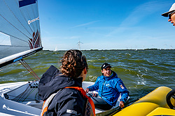 Nicholas Heiner, Nienke and Simon in action by the Open Dutch Sailing Championships on September 18, 2020 in Medemblik, Netherlands