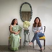 Rokeya Quader and her daughter Vidiya Khan. Dhaka, Bangladesh.