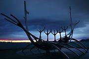 Sun Voyager at Sunset, Reykjavik, Iceland