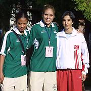 2. WOMEN'S WORLD BOXING CHAMPIONSHIPS.<br /> Norway's Kitel Henrite (C) semi final  winner. Dilek Sabanci Sport Hall Antalya/Turkey<br /> Photo by Aykut AKICI/TurkSporFoto