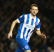 Brighton central midfielder Dale Stephens during the Sky Bet Championship match between Brighton and Hove Albion and Brentford at the American Express Community Stadium, Brighton and Hove, England on 5 February 2016. Photo by Bennett Dean.