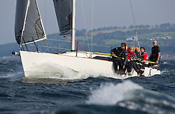 Largs Regatta Week 2015, hosted by Largs Sailing Club and Fairlie Yacht Club<br /> <br /> GBR9292C, Wildebeest V, J/92, Craig Latimer<br /> Credit Marc Turner