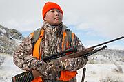 Chinese student Li Haoxin (Luke) hunts for deer and elk near Alder, Montana.