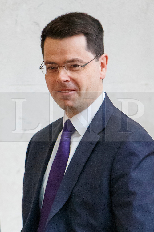 © Licensed to London News Pictures. 15/01/2017. London, UK. Northern Ireland Secretary JAMES BROKENSHIRE arrives at BBC Broadcasting House in London to appear on The Andrew Marr show on BBC One on 15 January 2017. Photo credit: Tolga Akmen/LNP