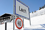 Lech - een jaar na het ongeluk met Prins Friso /// Lech - a year after the accident with Prince Friso<br /> <br /> Op de foto / On the photo:  De stad lech op zondag 17 februari , exact een jaar na het ongeluk /// The city lech on Sunday, Feb. 17, exactly one year after the accident