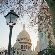 Sacre Coeur dome and belltower in Montmartre, Paris.