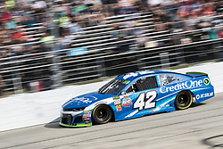 October 7, 2018 - Dover, DE, U.S. - DOVER, DE - OCTOBER 07: Kyle Larson driver of the #42 Credit One Bank Chevrolet races down the front srtetch during the Gander Outdoors 400 on October 07, 2018, at Dover International Speedway in Dover, DE. (Photo by David Hahn/Icon Sportswire) (Credit Image: © David Hahn/Icon SMI via ZUMA Press)