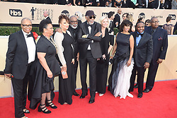 January 20, 2018 - Los Angeles, California, U.S. - MORGAN FREEMAN and his entourage during red carpet arrivals for the 24th Annual Screen Actors Guild Awards, held at The Shrine Expo Hall. (Credit Image: © Kevin Sullivan via ZUMA Wire)