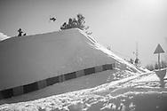 Oystein Braaten during Ski Slopestyle Practice at the 2016 X Games Aspen in Aspen, CO. ©Brett Wilhelm/ESPN