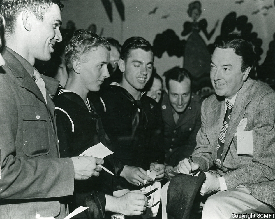 1944 Jack Haley sign autographs for servicemen at the Hollywood Canteen