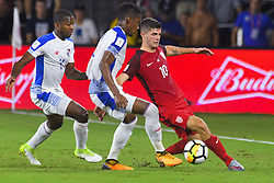 October 6, 2017 - Orlando, Florida, USA - United States midfielder Christian Pulisic (10) brings the ball upfield against Panama during a World Cup qualifying game at Orlando City Stadium on Oct. 6, 2017 in Orlando, Florida.  The US won 4-0....Zuma Press/Scott Miller (Credit Image: © Scott A. Miller via ZUMA Wire)