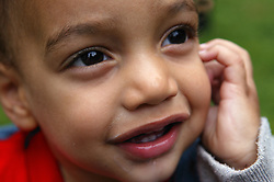 Close up portrait of toddler,
