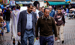 A group of men in the medina in Marrakech, Morocco, North Africa<br /> <br /> (c) Andrew Wilson | Edinburgh Elite media