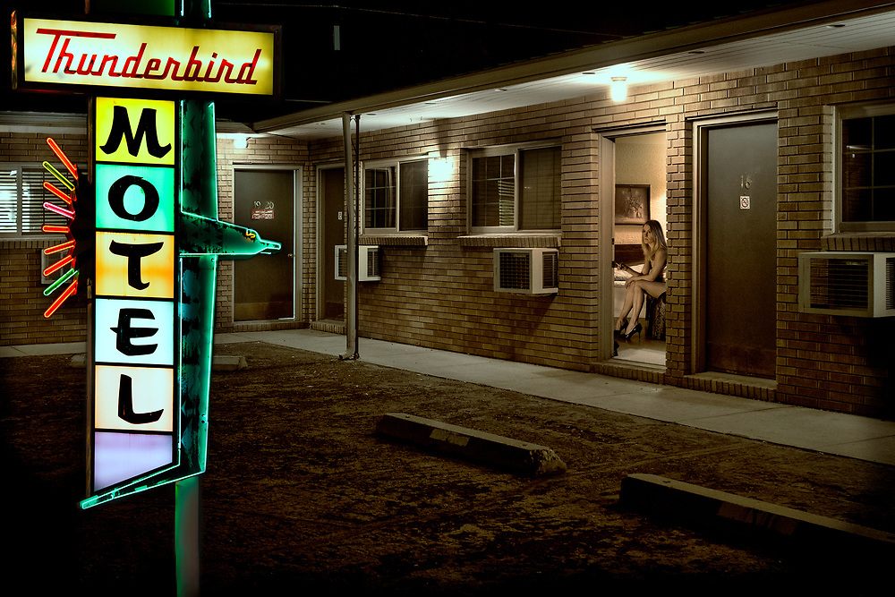 USA, , Motel, Thunderbird motel