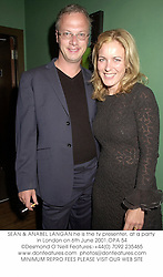 SEAN & ANABEL LANGAN he is the tv presenter, at a party in London on 6th June 2001.OPA 54