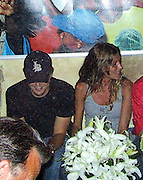 **EXCLUSIVE**.Leonardo DiCaprio & Gisele Bundchen attending a Birthday Party for Giselle's .IMG Agent Anne Nelson..PM Lounge.New York, NY USA.Tuesday, July 06, 2004.Photo By Celebrityvibe.com/Photovibe.com, New York, USA, Phone 212 410 5354, email:sales@celebrityvibe.com...