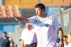 Uros Bregar, head coach of RK Krim Mercator during handball match between RK Zagorje and RK Krim Mercator of Super Cup 2016, on August 27, 2016 in SRC Marina, Portoroz / Portorose, Slovenia. Photo by Matic Klansek Velej / Sportida