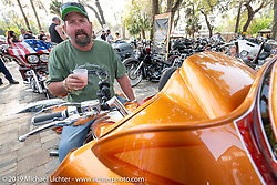 Ed White of South Carolina with his Chopp Shop Shannon Davidson custom Road Glide with Metalsport Wheels at the Perewitz Paint Show at the Broken Spoke Saloon during Daytona Beach Bike Week, FL. USA. Wednesday, March 13, 2019. Photography ©2019 Michael Lichter.