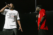 l to r: A Tribe Called Quest, Q-Tip and Phife Dawg at Guerilla Union?s ROCK THE BELLS 2008 INTERNATIONAL FESTIVAL SERIES POWERED BY SANDISK kicks off its Concert Series at First Midwest Bank Ampitheater in Chicago on July 19, 2008