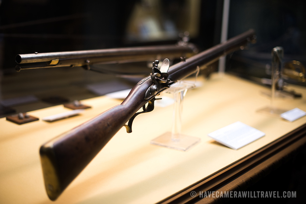 LISBON, Portugal - A Baker Rifle dating to the early 19th century. Housed in the old armoury, Lisbon's Military Museum showcases 500 years of Portuguese military history, with many of the exhibits in opulently decorated rooms of the historic building.