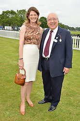 URS & FRANCESCA SCHWARZENBACH at the Cartier Queen's Cup Final 2016 held at Guards Polo Club, Smiths Lawn, Windsor Great Park, Egham, Surry on 11th June 2016.
