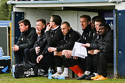 Bristol Rovers Manager, Darrell Clarke watches from the dug out- Photo mandatory by-line: Neil Brookman/JMP - Mobile: 07966 386802 - 28/03/2015 - SPORT - Football - Macclesfield - Moss Rose - Macclesfield Town v Bristol Rovers - Vanarama Football Conference