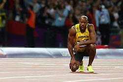 Olympics - London 2012 Olympic Games - 5/8/12.Athletics - Men's 100m Final - Jamaica's Asafa Powell injured.© pixathlon