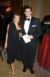 EVIE DALTON and ZAFAR RUSHDIE son of writer Salman Rushdie at the Conde Nast Traveller magazine Tsunami Appeal Dinner at the Four Seasons Hotel, Hamilton Place, London W1 on 2nd March 2005.<br />