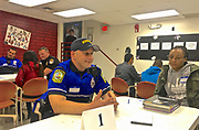 Policeman and City Teens Dialogue, Olivet Boys and Girls Club, Reading, PA