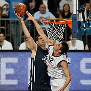Anadolu Efes's Stanko BARAC (L) during their Turkish Airlines Euroleague Basketball Group C Game 6 match Anadolu Efes between Partizan at Sinan Erdem Arena in Istanbul, Turkey, Wednesday, November 23, 2011. Photo by TURKPIX