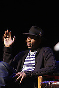 May 7, 2012- New York, NY United States: - Actor Wood Harris attends Theater Talks at the Schomburg: A Streetcar Named Desire held at the Schomburg Center for Research in Black Culture, part of the New York Public Library on May 7, 2012 in Harlem Village, New York City. The Schomburg Center for Research in Black Culture, a research unit of The New York Public Library, is generally recognized as one of the leading institutions of its kind in the world. For over 80 years the Center has collected, preserved, and provided access to materials documenting black life, and promoted the study and interpretation of the history and culture of peoples of African descent.  (Photo by Terrence Jennings) .